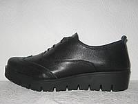 Туфли женские без каблука кожаные броги