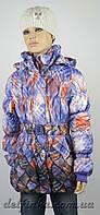 Куртка удлиненная весна-осень размеры 128-146 ( 7-12 лет ) цвет сиреневый