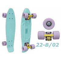 Пенни 22-B пастельный penny лонгборд скейт 56 см cruiser fish skate board