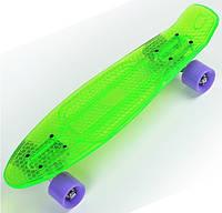 Скейтборд/скейт Penny Board прозрачный зеленый