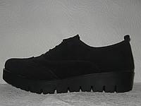 Туфли броги женские стильные натуральная замша