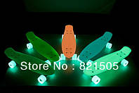 Скейтборд/скейт Пенни (Penny Board) со светящимися колесами: 5 цветов в ассортименте