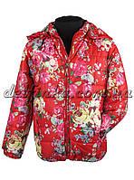 Куртка удлиненная для девочек   демисизонная 3-6 лет цвет красная
