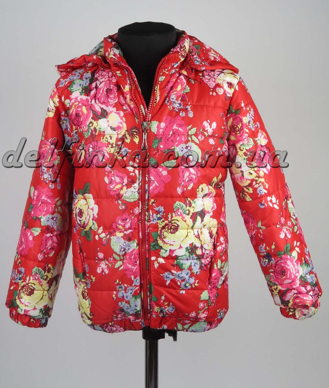 Куртка демисизонная размеры (98-122) 3-6 лет цвет красная, фото 2