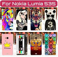 Силиконовый чехол для Nokia Lumia 535 с рисунком