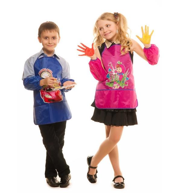 Детские фартушки с нарукавниками