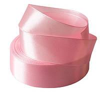 Лента атласная (ширина 5 см) розовая нежная