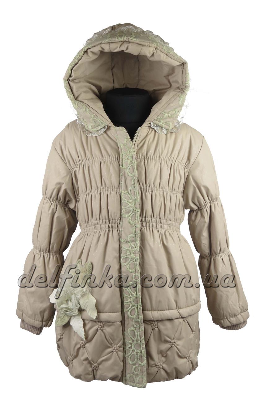 Пальто   демисизонное размеры 110-140 ( 5-10 лет) цвет бежево серый, фото 2