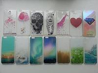 Силиконовые прозрачные чехлы  для iphone 6/6S