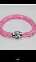 Браслет женский розовый с магнитной застежкой