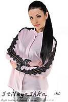 Женская блузка из шифона Вуаль пудра