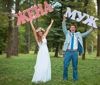 Слова МУЖ ЖЕНА для свадебной фотосессии