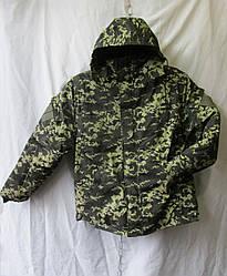 Куртка бушлат на меху амуфляж