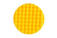 Желтый поролоновый полировальный круг 150 мм, рельефный, 1шт