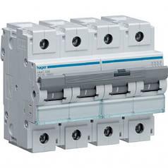 Автоматический выключатель 100 А, 4п, С, 10 kA, hager (Франция)