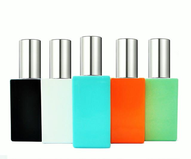 Флаконы стеклянные цветные для парфюмерии