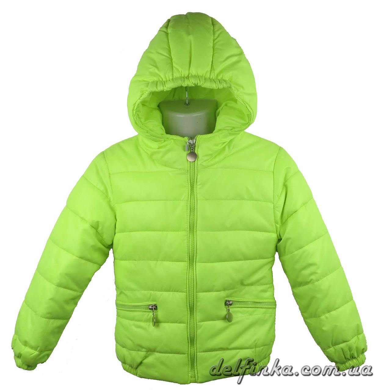 Куртка удлиненная для девочек 1310   демисизонная 3-6 лет цвет салатовый, фото 1