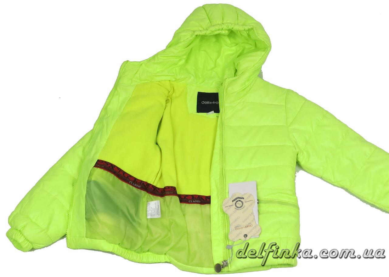 Куртка удлиненная для девочек 1310   демисизонная 3-6 лет цвет салатовый, фото 2