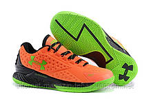 Кроссовки мужские Under Armour Curry One Low SC30 Orange Lime Green