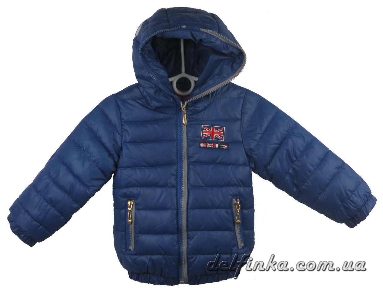 Куртка для девочек демисизонная 1-4 лет цвет синий, фото 1