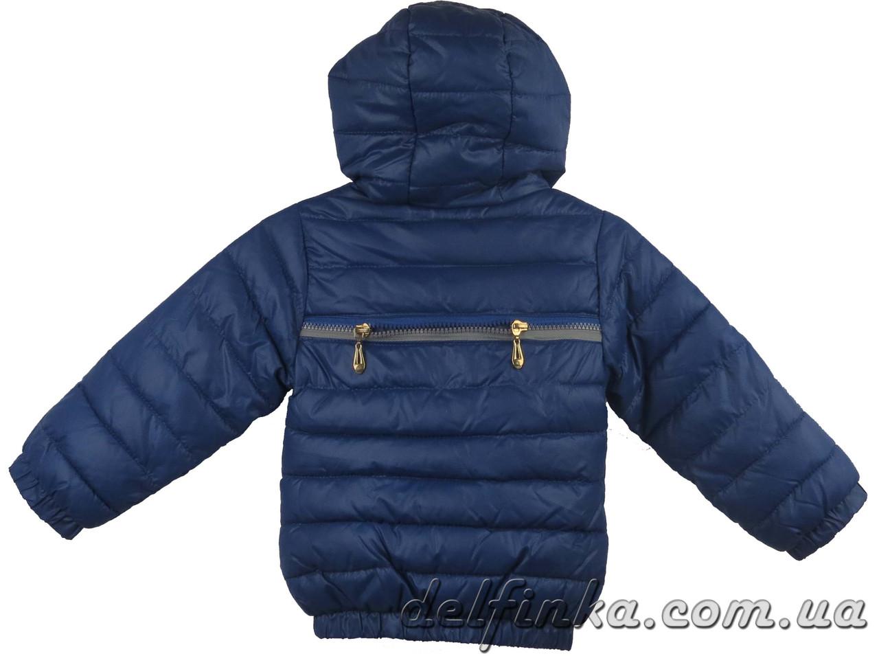 Куртка для девочек демисизонная 1-4 лет цвет синий, фото 2