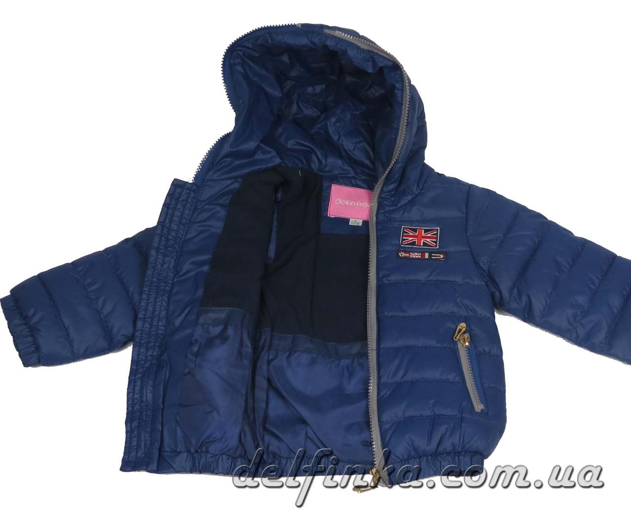 Куртка для девочек демисизонная 1-4 лет цвет синий, фото 3