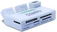 USB-Hub + Кардридер Siyoteam SY-H226 USB 2.0 (3 USB + SD/SDHC/MMC/T-Flash/Micro SD/Mini SD/M2/Sony Memory Stic