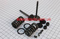 Клапан впуск., вып. полный к-кт (клапан, сальник, пружина, сухарь) 150сс  (скутер 125-150куб.см)