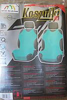 Автомайки-накидки на сидения Зеленые.Чехлы майки на автокресла.