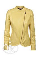 Желтая кожаная куртка косуха, фото 1