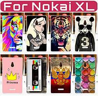 Силиконовый чехол для Nokia XL с рисунком