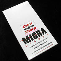 Лезвия для бритв для коррекции бровей и педекюра Sharp Micra (100 шт в упаковке) Л03150 /05-7