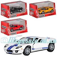 Машинка железная инерционная Kinsmart Ford GT 2006 1:36: 4 цвета