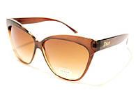 Очки женские DIOR 2392 С59 SM 02423, солнцезащитные очки-бабочки Диор коричневые