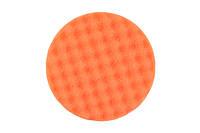 Рельефный поролоновый полировальный круг 150x25мм, оранжевый 2 шт. в упаковке