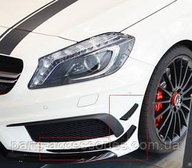Накладки на передний бампер AMG Mercedes A Class W176 2012-17 новые оригинал