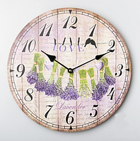 """Настенные часы """"Лаванда"""" (34 см.)"""