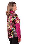 Трикотажная блуза теплая большие размеры , Бл 639., фото 2