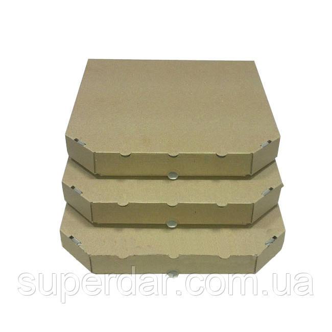 Коробка под пиццу, 25 см бурая