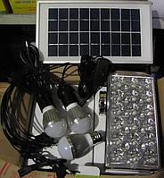 Аккумуляторный фонарь, солнечная система Yajia YJ-1900 на солнечной батареи+комплект переходников+3 лампочки, фото 1