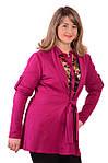 Трикотажная блуза теплая большие размеры , Бл 639., фото 4