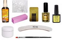 Стартовый набор для наращивания ногтей без лампы Silcare №3
