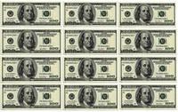 Вафельная картинка для тортов Доллары 20Х30