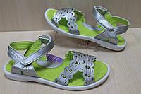 Серебряные босоножки на девочку сандалии с супинатором тм Тom.m р.33,34,35,36