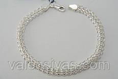 Браслет серебряный плетение Кардинал