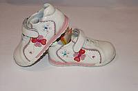 Туфельки кожаные на девочку  Шалунишка Ортопед 21-26 белые