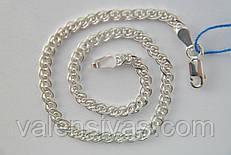 Серебряный женский браслет - плетение Нонна