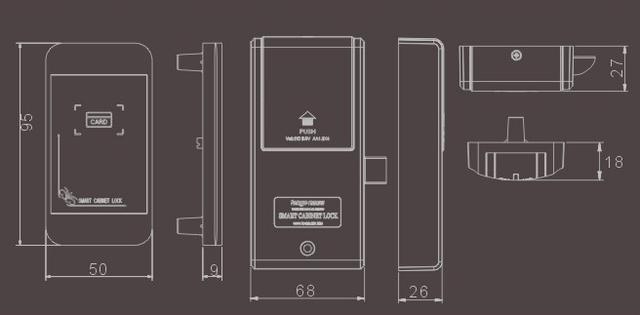 Электронный замок в виде телефона