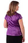Жакет +с коротким рукавом фиолетовый атласный нарядный., фото 3