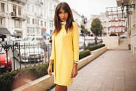 Нежное жёлтое платье с белым воротничком. Арт-5368/54